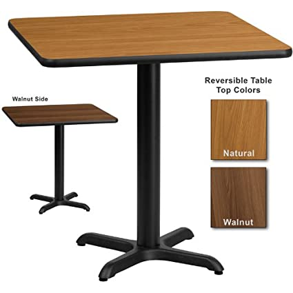 Amazon.com: Flash Furniture 30 Inch Square Dining Table W/ Natural