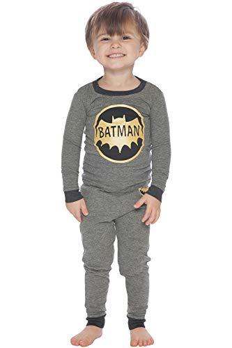 Intimo Little Boys' DC Comics Vintage Batman Pajamas,Grey,3T ()