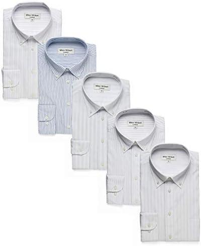 ワイシャツ 5枚セット メンズ 長袖 ボタンダウン ビジネス シャツ イージーケア