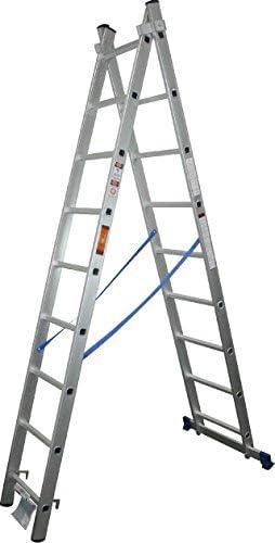Escalera Aluminio 2X9 Extensible: Amazon.es: Bricolaje y herramientas