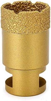 GJNVBDZSF Repair Kit 35mm Diamond Drill Core Bit Vacuum Brazed Hole Saw M14 Thread Granite Marble Gauge for Angle Grinder