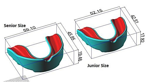 2Pc Gum Shield Mouth Guard for Martial Arts Hockey Sports Boxing Rugby Black