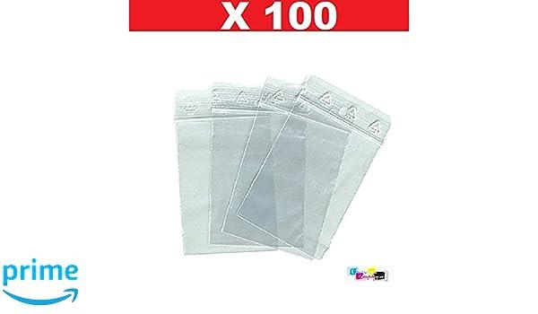 100 bolsa zip 60 x 80 bolsas de cierre mm zip 6 X 8 cm de ...
