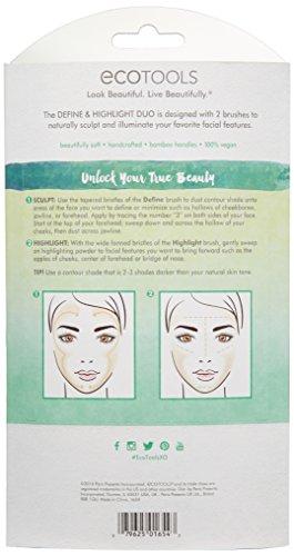 EcoTools Define & Highlight Duo, Makeup Brush Set for Powder, Bronzer, & Highlighter