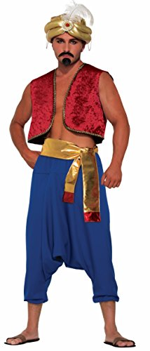 Arabian Costumes For Men (Blue Desert Prince Adult Pants Aladdin Sultan Harem Genie Costume Accessory)
