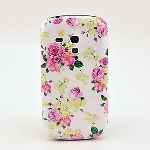 ZCL- Hermosa modelo de las flores de Rose del caso duro para Samsung Galaxy S3 I8190 Mini