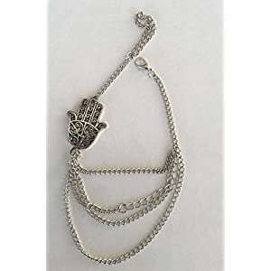 SAVANNAH CHARMS Silver Chain Bracelet – Good Luck Charm – 21 cm
