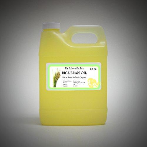 Cooking Oil Rice - Rice Bran OIL Organic 100% Pure Cold Pressed 32 Oz / 1 Quart
