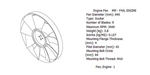 Engine fan 4989478 for diesel engine: