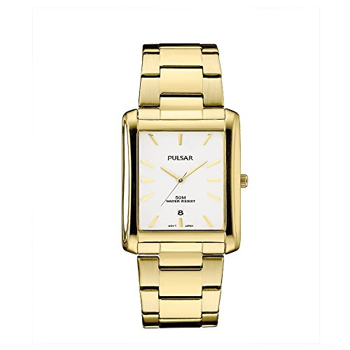 Pulsar PG8268 Unisex Gold Tone Stainless Steel Bracelet Band Preal Quartz Dial Watch