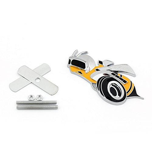 Areyourshop Super Bee Scat Pack For Dodge Challenger Charger Grille Emblem Badge Hemi SRT, - Scat Pack