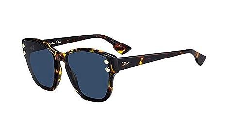 Dior Gafas de Sol ADDICT 3 HAVANA/BLUE mujer: Amazon.es ...