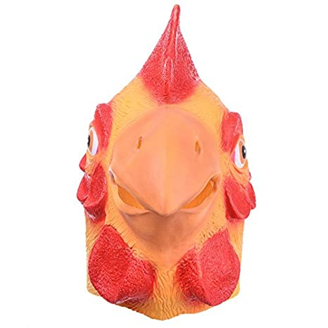 DeemoShop Animal Chicken Mask Head Full Face Halloween Party Prop Carnival Latex Rubber