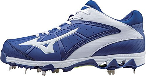 Mizuno Womens 9 Spike Swift 4 Tacchette Softball In Metallo Fast-pitch Royal-white