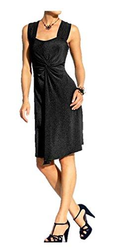 Heine robe bretelles-robe en jersey avec knotenoptik noir-taille 38