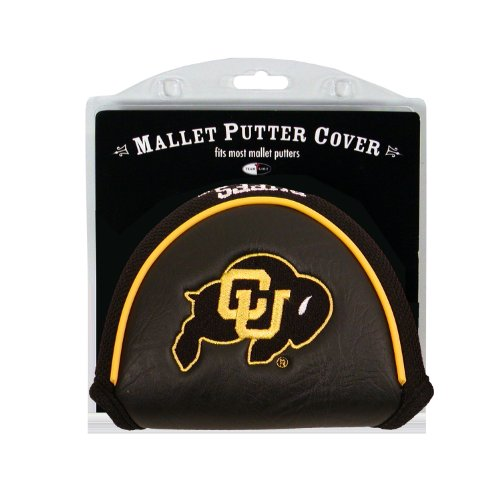Team Golf NCAA Colorado Buffaloes Golf Club Mallet Putter Headcover, Fits Most Mallet Putters, Scotty Cameron, Daddy Long Legs, Taylormade, Odyssey, Titleist, Ping, Callaway