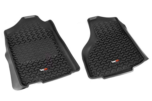 (Rugged Ridge All-Terrain 82903.05 Black Front Row Floor Liner For Select Ram 1500, 2500 and 3500 Models)