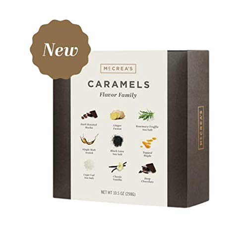 McCrea's Candies Flavor Family Caramels Box Black Lava Sea Salt Chocolate Ginger Maple Rosemary Mocha Cape Cod