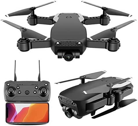 CGIIGI RC X12s Folding Drone 1080 HD Aerial Photography Professional Primary School Students Quadcopter Human Adult Remote Control Fall Resistant Aircraft Model (Color : Black)