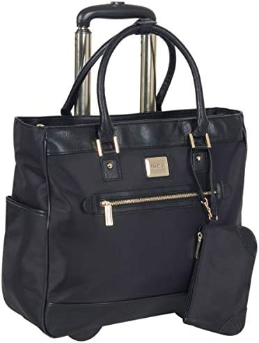 Kenneth Cole Reaction Women's Runway Call Nylon-Twill 17 Laptop Tablet Anti-Theft RFID Wheeled Business Carry-On Tote