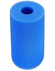 QKFON Vervanging filtercartridge, schuim, type I/II/VI/D/H/S1/A/B Heavy Duty zwembadfilterspons herbruikbaar voor zwembadspa, multifunctioneel fiter-schuim