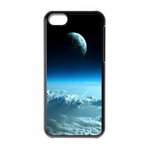 Earths View From Another Planet 3 coque iPhone 5C Housse téléphone Noir de couverture de cas coque EOKXLLNCD17976