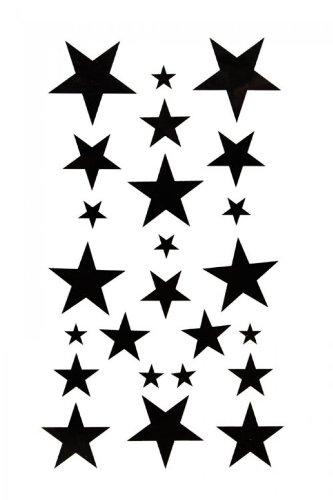 SPESTYLE waterproof non-toxic temporary tattoo stickersBody painting temporary tattoos waterproof temporary tattoo black star