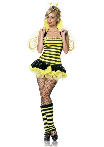 Leg Avenue Women's Queen Bee Costume, Yellow/Black, Small/Medium