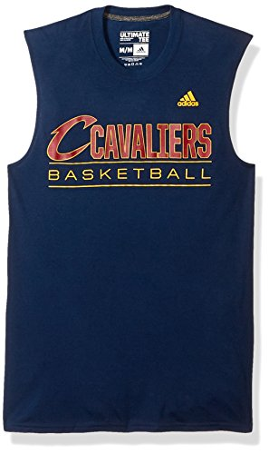 NBA Cleveland Cavaliers Adult Men Ball Out Climalite Ultimate Sleeveless Tee, Medium, Navy