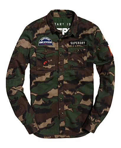 ary Storm Long-Sleeve Button-Down Shirt (Traditional Camo Blur, Small) ()