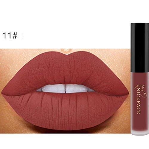 ANBOO New Matte Lip Lip Gloss Waterproof Makeup Liquid Lipstick (K)