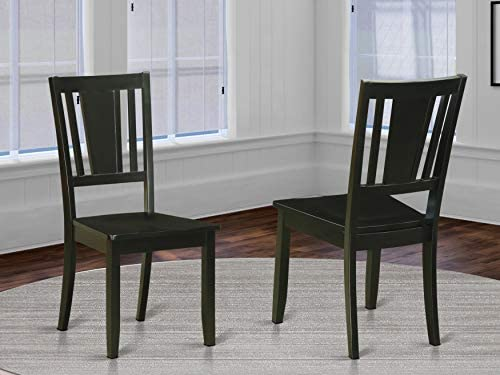 Dudley Dining Chair with Wood Seat in Black Finish