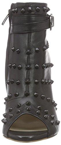 FersengoldBerlin - botas Mujer Negro - Schwarz (Schwarz-schwarze Nieten)