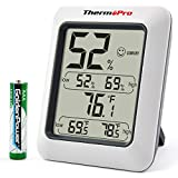 ThermoPro TP50 Digital Hygrometer Indoor Thermometer Room Thermometer and Humidity Gauge with Temperature Humidity Monitor