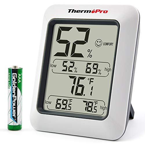 (ThermoPro TP50 Digital Hygrometer Indoor Thermometer Room Thermometer and Humidity Gauge with Temperature Humidity Monitor)