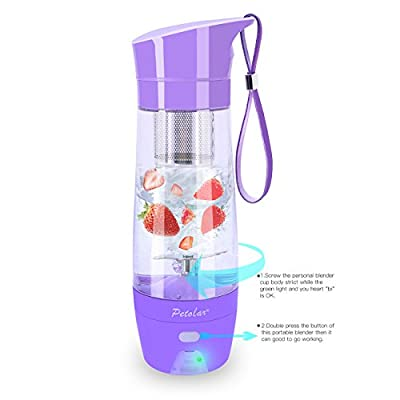 Personal Blender Portable Mini Juicer Cup with Rechargeable Battery Fruit Mixing Machine for Travel