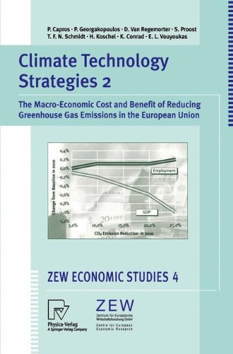 Climate Technology Strategies 2: The Macro-Economic Cost and Benefit of Reducing Greenhouse Gas Emissions in the Europea