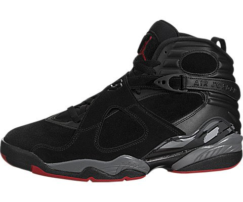 Jordan Mens Air 8 Retro Bred Sneaker Shoe
