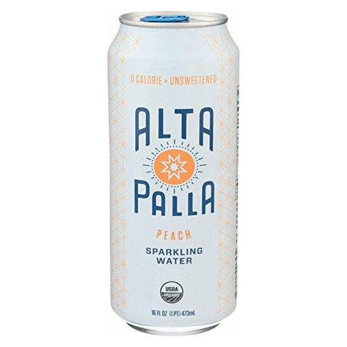Alta Palla Organic Peach Sparkling Water, 16 Fluid Ounce -- 12 per case. by Alta Palla