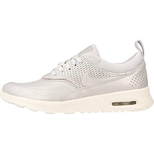 Nike Air Max Damen Thea Pelle Premium Sneaker Silber
