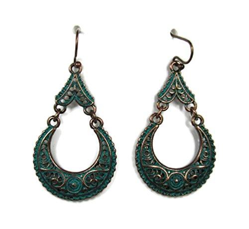 - Dangle Fashion Best Styles Statement Earrings Vintage Retro BOHO Patterns (Filagree Antique Copper Dangles)