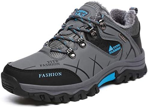 大きいサイズ ハイキングシューズ ウォーキングシューズ メンズ ローカット 裏起毛 防寒 スノーブーツ お年寄りシューズ アウトドア トレッキングシューズ 幅広 4E 登山靴 ローカット 防水 防臭 軽量