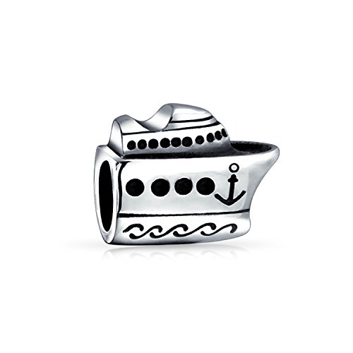 Bling Jewelry 925 Sterling Silver Nautical Cruise Ship Boat Bead Fits (Boat Bracelet)