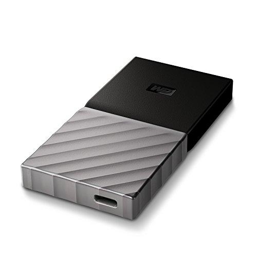 WD 512GB My Passport SSD Portable Storage - USB 3.1 - Black-Gray - WDBK3E5120PSL-WESN