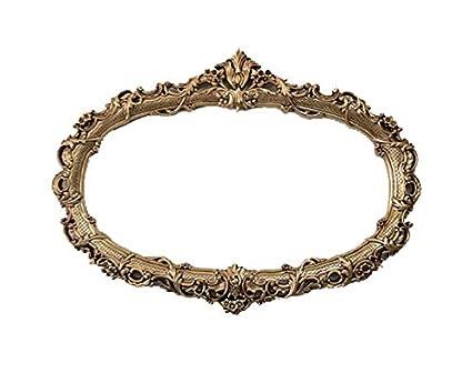 Amazon.com - Oval Frame for Mirror, Gold Vintage Baroque Frames ...