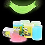 Kicko Glow in The Dark Slime - 6 Pack - Assorted