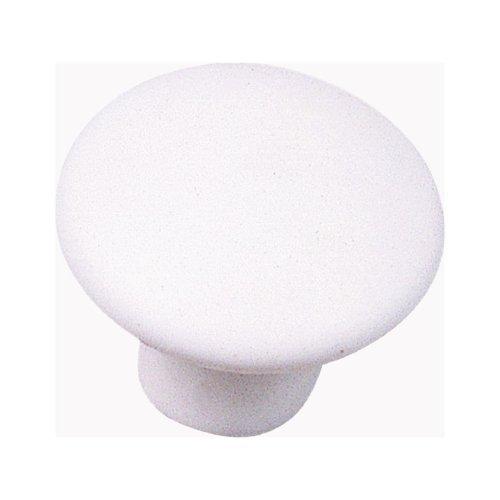 Laurey 3942 1 3/8-Inch Ceramic Mesa Knob, White, Matte - Knob Mesa Ceramic
