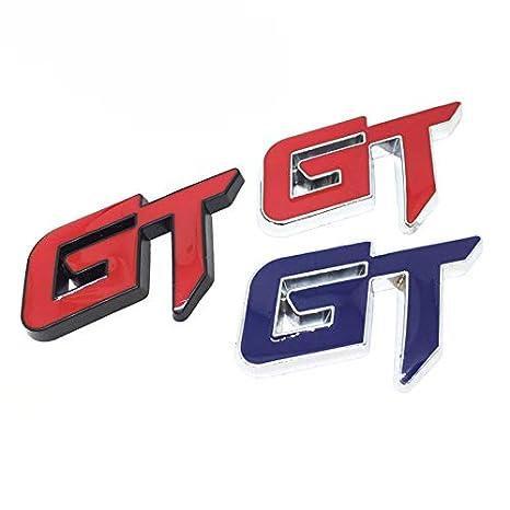 Plata cherrypop 3D GT Logo Pegatina De Coche Pegatina De Decoracion De Coce De Moda para Mustang Focus 2 3 Fiesta Ranger Mondeo Mk2 Rojo
