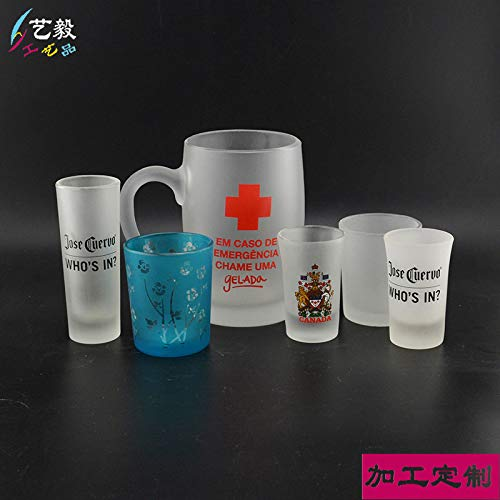 Outer frosted glass candle holder manufacturers pickling liquor plus logo frosted glass cup red wine
