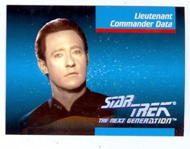 (Commander Data trading card Star Trek The Next Generation 1992 #006 Brent Spiner)